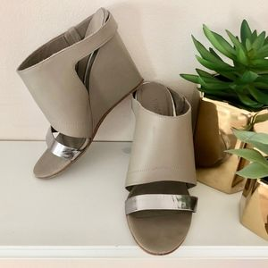 Vince Kasia Grey Leather Wedge